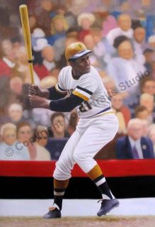 Roberto Clemente Pittsburgh Pirates Canvas Oil Painting