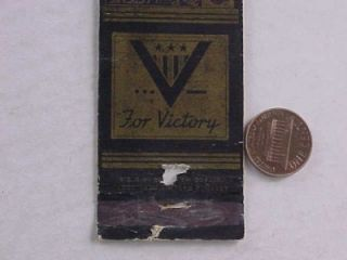1940s WWII Era Middleburg Pennsylvania V for Victory Campaign