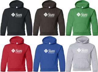 Sun Microsystems Hooded Sweatshirt Computer Logo Hoodie Geek Hoody