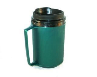 New 12 oz Foam Insulated Green ThermoServ Travel Coffee Mug