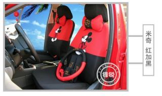 Top Mickey Mouse Autocar Front Rear Seat Covers Cover Car Accessories