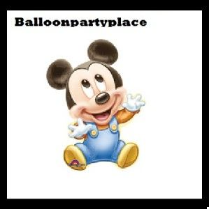 Disney Mickey Mouse Baby BOY1ST 2nd 3rd Birthday Party Shower Balloon