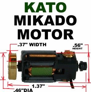 Mikado Motor Fits New Revised Kato 926050 N Scale