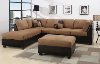 Sofa 3pcs Microfiber Sectionals Sofa in 6 Colors Sofa Couch Sofas