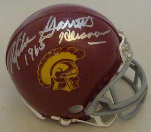 Mike Garrett Autographed USC Trojans Mini Helmet w 65 H