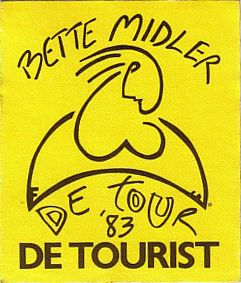 Unused GUEST backstage pass for the BETTE MIDLER 1983 DE TOUR .