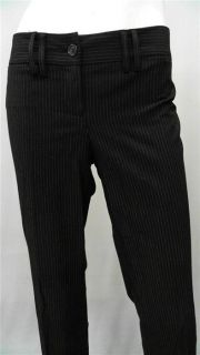 Michael Michael Kors Misses 8 Pinstriped Dress Pants Black Solid
