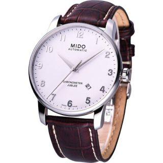 Mido Baroncelli Jubilee Mechanical Automatic Cosc Swiss Watch White