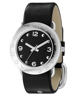 Marc by Marc Jacobs Watch, Womens Black Leather Strap MBM1140   All