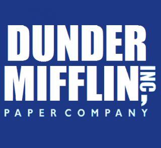 Dunder Mifflin Funny The Office T Shirt Blue Dwight Tee