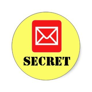 Confidential Top Secret Warning Sticker