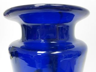 Mihai Topescu Vitraliu Blue Orange White Design Vase