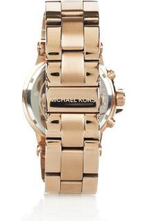 New Michael Kors Rose Gold Chronograph Oversize Ladies Watch MK5314