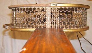 Vintage United LG Guitar Hanging Wall Clock Antique Needs Restored