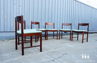 Set of Six Mid Century Modern Rosewood Dining Chairs by A H McIntosh