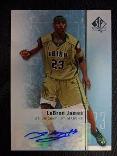 2011 12 SP AUTHENTIC LEBRON JAMES AUTO CARD #2 MIAMI HEAT SP MVP NBA