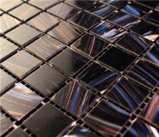 SF Midnight Blue Iridescent Glass Mosaic Backsplash Kitchen Wall