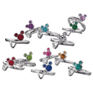 Mickey Mouse Birthstone Ring Choose A Stone Christmas Gift for Her