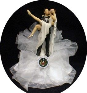 Sexy Army Armed Forces Soldier Wedding Cake Topper Top