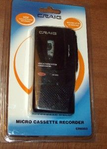 Craig Vox Voice Activated Micro Cassette Recorder 120 Minutes New in