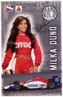 2008 MILKA Duno Signed Citgo Honda Dallara Indy Car Postcard