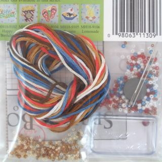 Float Beaded Cross Stitch Kit Mill Hill 2009 Spring Bouquet