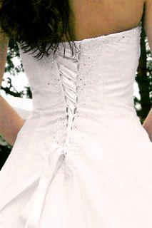Milla Strapless Organza Wedding Dress Gown Size 20 White Brand New