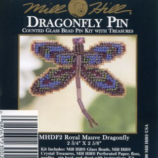 Mauve Dragonfly Bead Ornament Kit Mill Hill 2000 Spring Bouquet