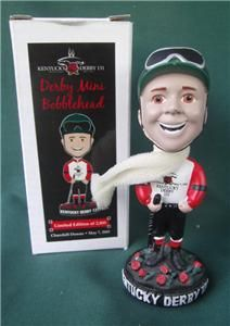 Kentucky Derby 131 Mini Bobblehead Boy Horse Racing Mike Smith