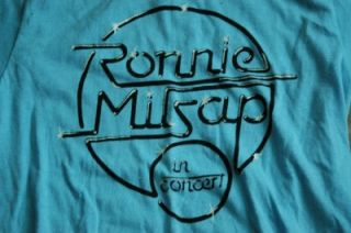 Vtg 80s Ronnie Milsap in Concert Tour T Shirt