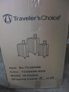 Travelers Choice TC5000R Tasmania 3 Piece Luggage Set