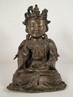 Chinese Ming Dynasty Bronze Seated Figure of Buddha