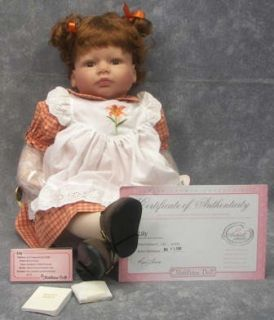 New Lee Middleton Original Doll Lily Baby Doll Reva Schick w COA