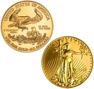 Ten 1oz 2011 American Gold U s Eagle $50 Gold Coin