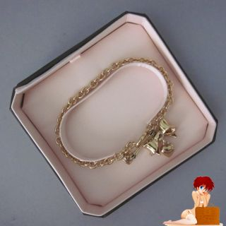 Boxed Juicy Couture Bow Heart Wish Bracelet Gold YJRU5044 $42