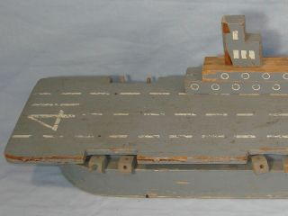 Folk Art United States Navy Aircraft Carrier USS Midway CV 41