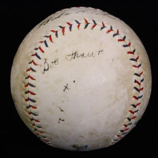 Babe Ruth Signed 1922 23 Yankees Team Baseball Ball PSA DNA