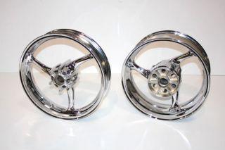2009 2011 GSXR 1000 Chrome Wheels Rims GSX R Gixxer