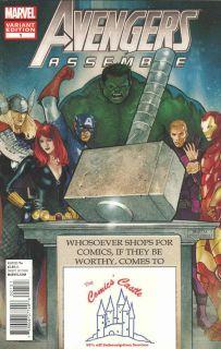 Avengers Assemble 1 Comics Castle Variant