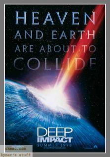 Deep Impact Advance Original 1 Sheet Movie Poster SF