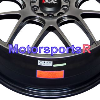 18 XXR 530 Chromium Black Concave Wheels Rims 03 04 10 11 Mazda 3 5 6
