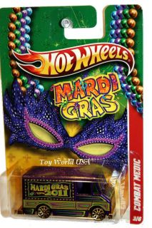 2011 Hot Wheels Mardi Gras 3 Combat Medic