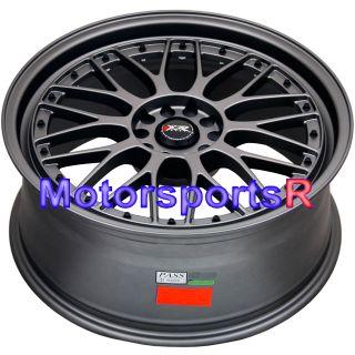Flat Gun Metal Staggered Rims Wheels 5x114.3 Lexus IS350 SC300 Stance