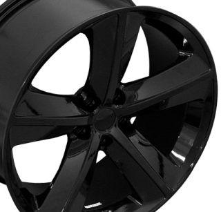 20 Challenger SRT Black Wheels Set of 4 Rims Tires Fit Dodge