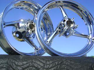 Suzuki GSXR1000 GSXR 1000 GSX R 2009 2011 Chrome Wheels Rim