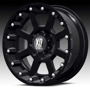 18x10 KMC XD black wheels rims 5x5 5x127 2007 ^ jeep wrangler lifted