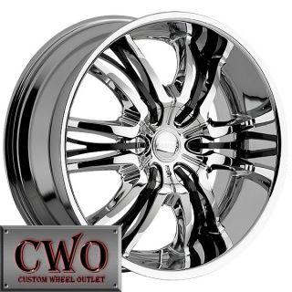 22 Chrome Cattivo 767 Wheels Rims 5x115 5x139 7 5 Lug Charger 300