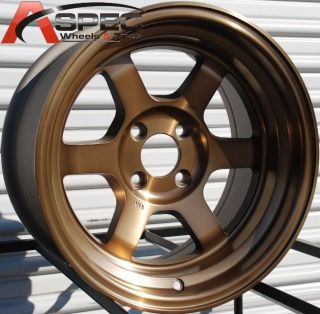 Rota Grid V 15x8 4x114 3 ET0 Sport Bronze Rims Wheels