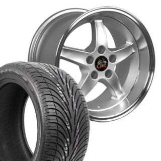 17 9 10 5 Silver Cobra R Wheels Nexen Tires Rims Fit Mustang® 94