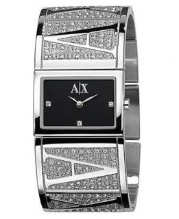 Armani Exchange Watch, Womens Stainless Steel Bracelet 20x26mm